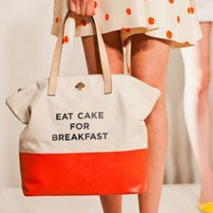 Kate Spade Eat Cake for Breakfast Large Tote